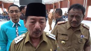 WAWANCARA. Walikota Bandarlampung, Herman HN saat diwawancarai awak media, usai membukan RKPD Kota Bandarlampung, pada Selasa (21/1). FOTO. LAMPUNG17.COM